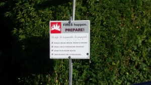 Mill Valley Fire Safe Neighborhood Sign